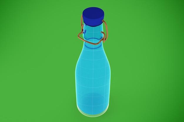 Glasflasche wasser