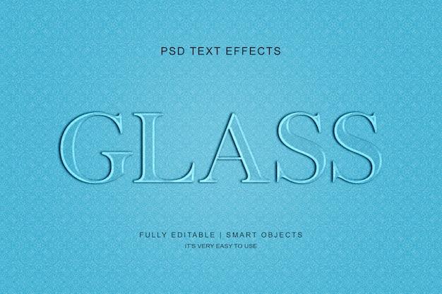 Glastext-effekt