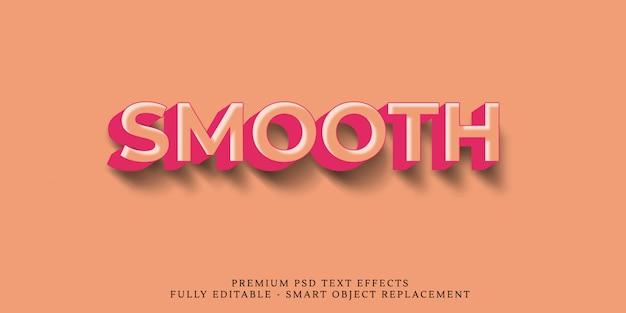 Glatte art-effekt psd des textes 3d