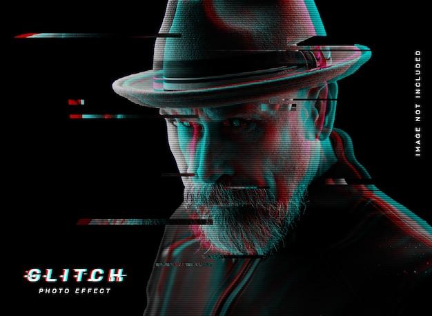 Glitch-fotoeffekt-vorlage