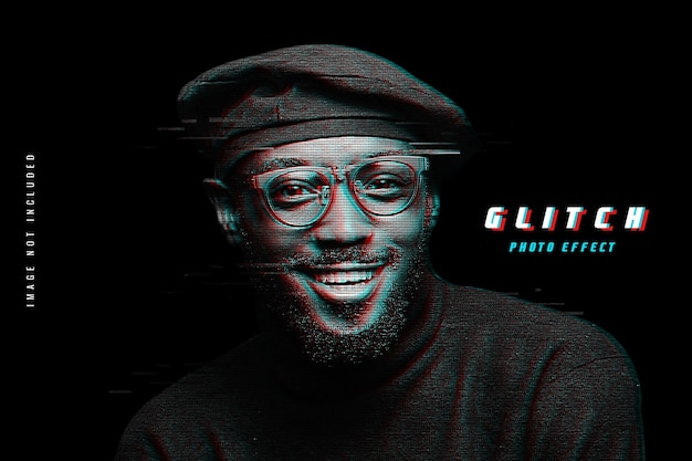 Glitch psd fotoeffekt