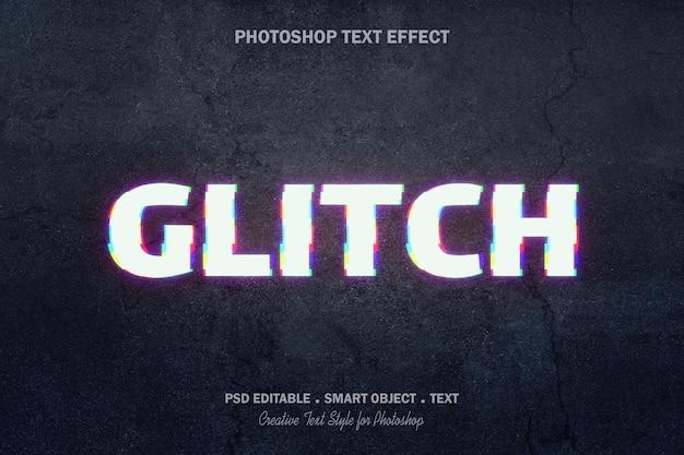 Glitch text effekt vorlage design