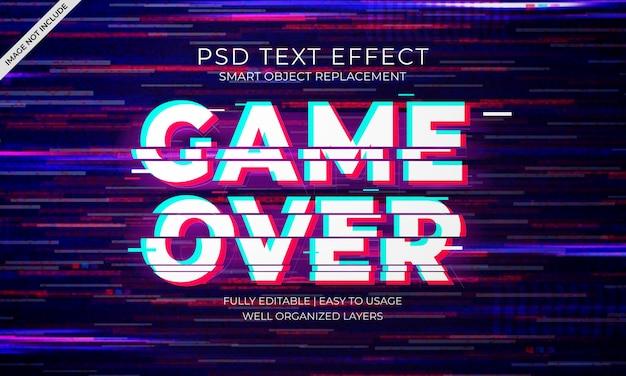 Glitch text effekt