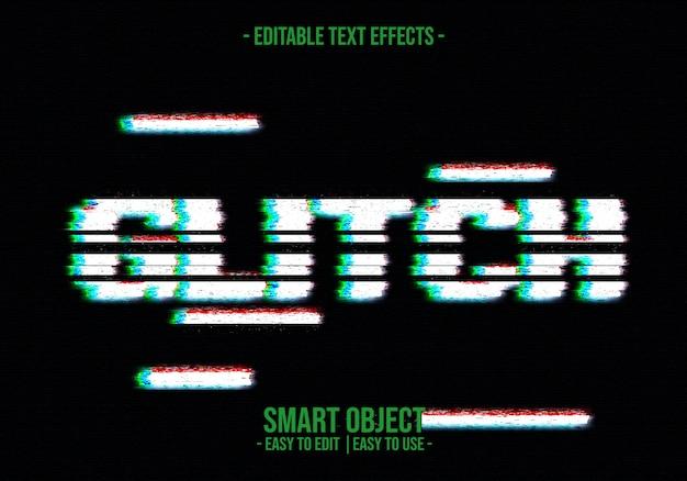 Glitch-textstil-effekt