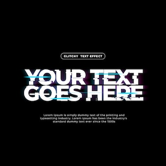 Glitchy text effekt