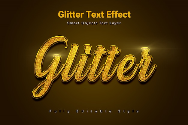 Glitzer-texteffekt