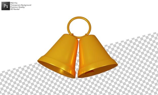 Glockenillustration 3d-design