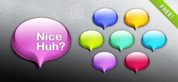 Glossy bubble-psd graphics