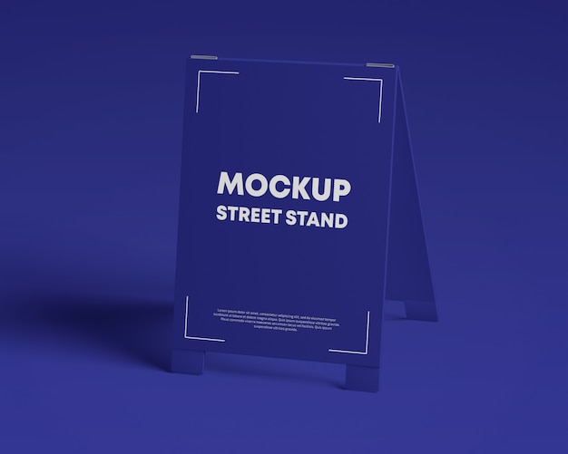 Glossy street stand mockup
