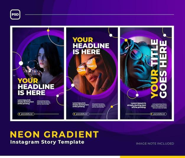 Glow gradient social media template