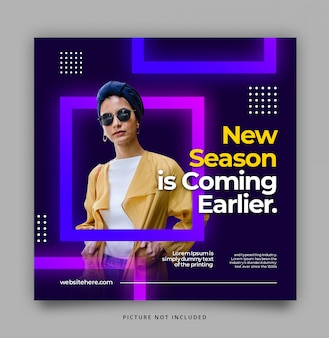 Glow modern dynamic instagram template