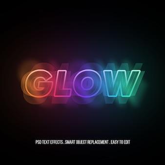 Glow premium-texteffekt
