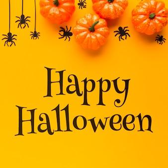Glückliche halloween-mitteilung am feiertag