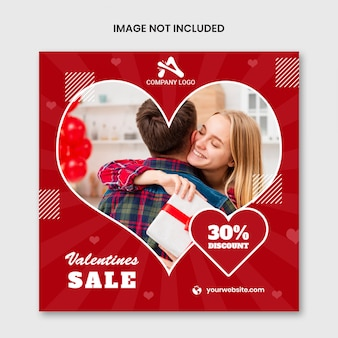 Glückliche valentinstag-social media-schablone