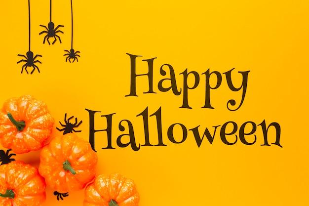 Glücklicher halloween-tag und herbstansicht