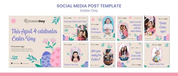 Glücklicher ostertag instagram beiträge Premium PSD