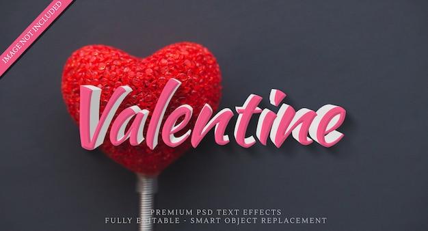 Glücklicher valentinsgrußtextart-effekt psd