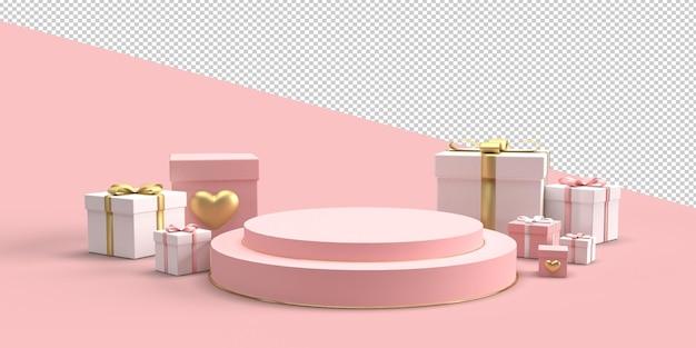 Glücklicher valentinstag im 3d-rendering