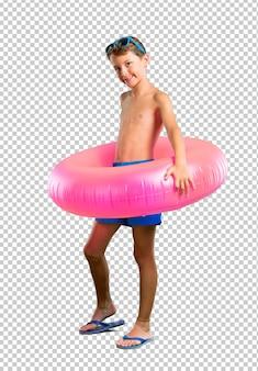 Glückliches kind in den sommerferien