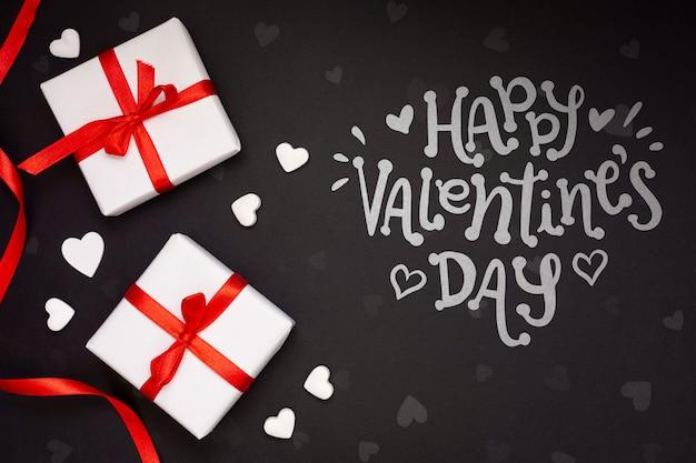 Glückliches valentinstagkonzeptmodell
