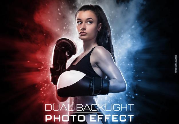 Glühender porträtfotoeffekt der hintergrundbeleuchtung
