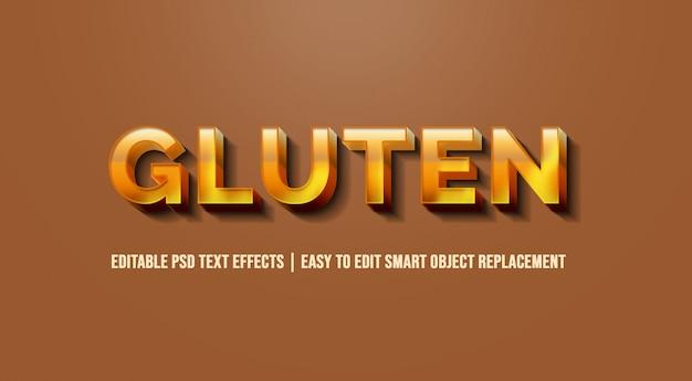 Gluten in den effekten des textes 3d