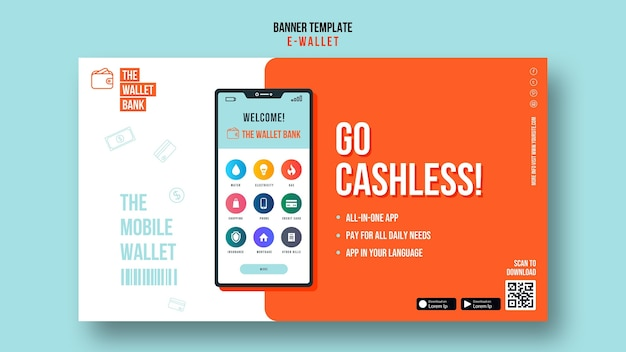 Go cashless banner-vorlage