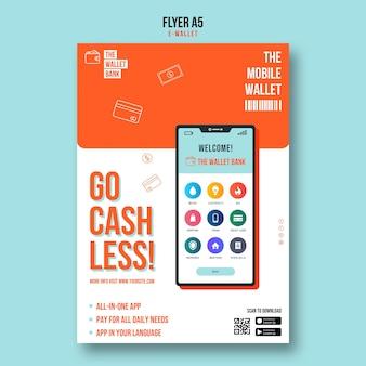 Go cashless flyer-vorlage