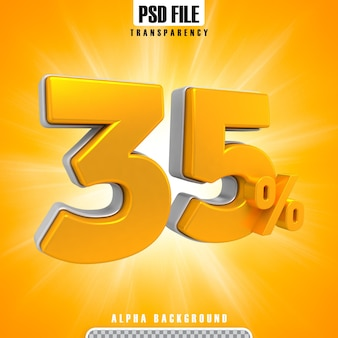 Gold 3d-prozentsätze 35 prozent