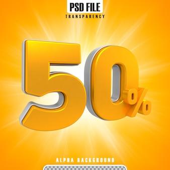 Gold 3d-prozentsätze 50 prozent