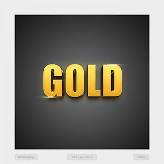 Gold 3d textstil-effekt