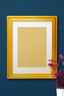 Gold-fotorahmen-modell