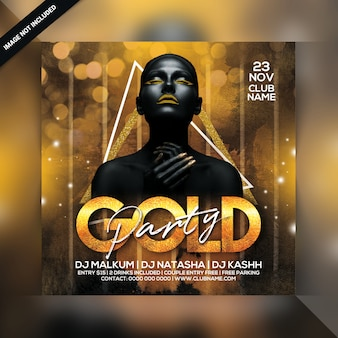 Gold-party-flyer