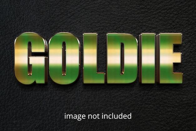 Gold photoshop-texteffekt ebenenstil