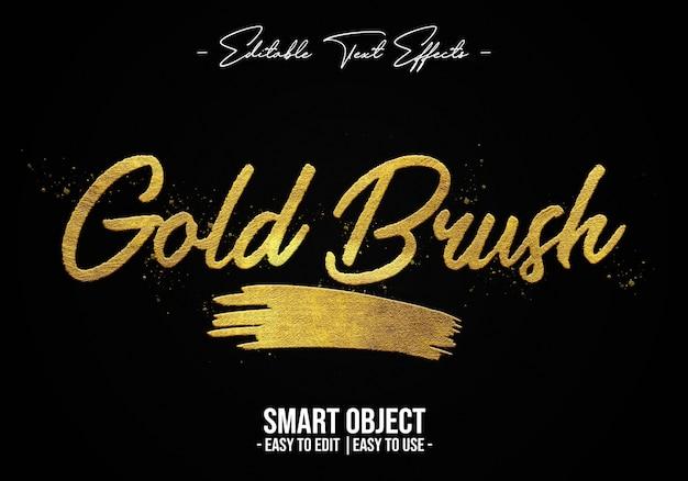 Gold-pinsel-text-style-effekt