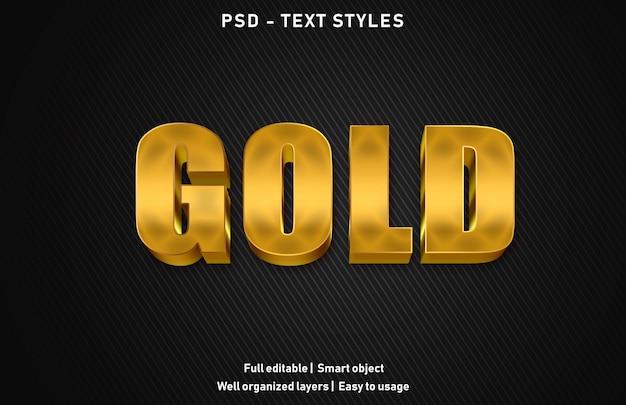 Gold-text-effekt