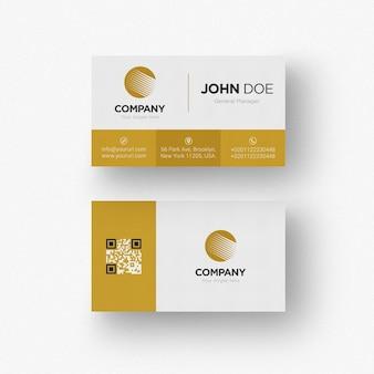 Gold und weiße visitenkarte
