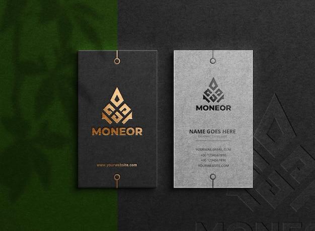 Gold visitenkarte luxuskarte