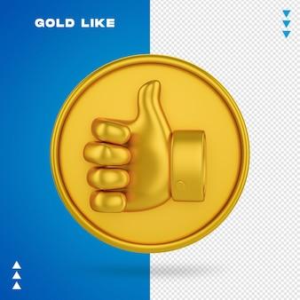 Gold wie rendering isoliert