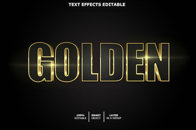 Golden - bearbeitbarer schrifteffekt
