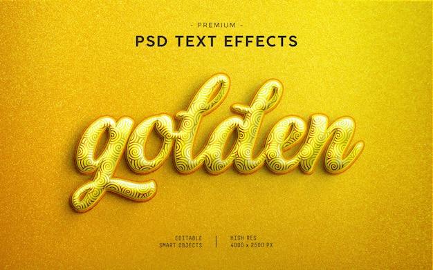 Golden glitter text effect generator