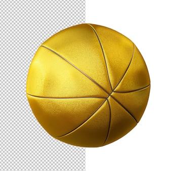 Goldene basketball isolierte illustration