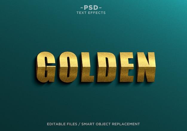 Goldene effekte textvorlage des 3d-dreiecks