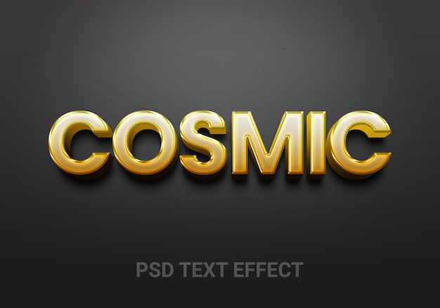 Goldene, fette bearbeitbare texteffekte
