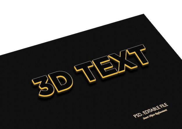 Goldene glühende effektbeschaffenheit des textes 3d