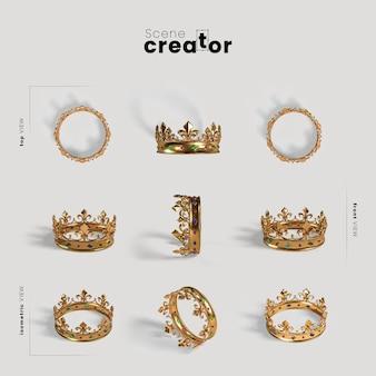Goldene krone des szenenschöpfer-karnevals