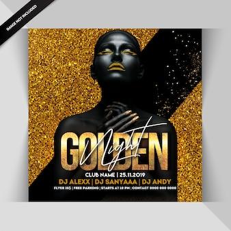 Goldene nacht party flyer