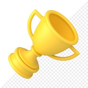 Goldene tasse 3d-symbol
