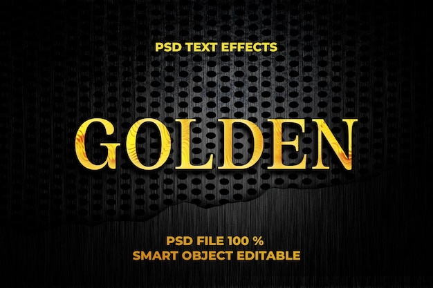 Goldene texteffektvorlage