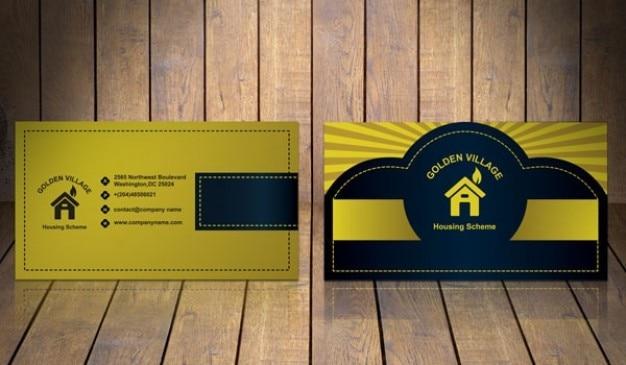 Goldene visitenkarte vorlage